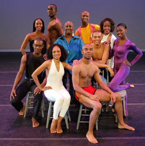 Judith Jamison (center) and company members of
