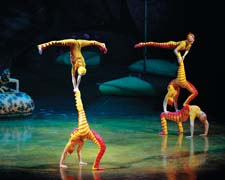A scene from Cirque du Soleil's Ovo