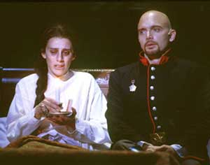 Strange bedfellows:Judy Kuhn and Michael Cerveris in Pasion(Photo: Joan Marcus)