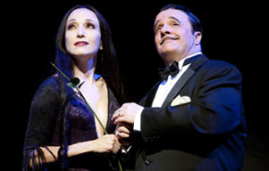 Bebe Neuwirth and Nathan Lane in The Addams Family