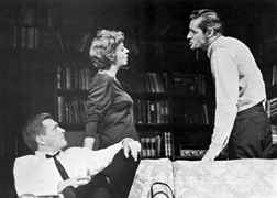 George Grizzard, Uta Hagen, and Arthur Hill inWho's Afraid of Virginia Woolf?