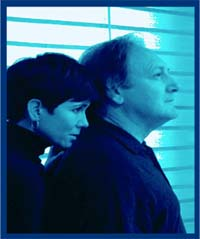 Suzanne Bouchard and Frank Corrado (PR image for Two by Pinter)