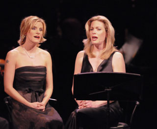 Jenn Colella and Marin Mazzie in Beautiful Girls