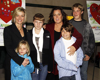 Kelli O'Donnell (left), Rosie O'Donnell, and their children, Vivienne, Chelsea, Blake, and Parker
