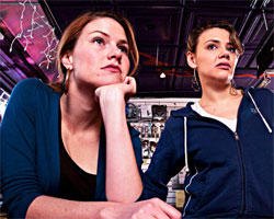 Kate MacCluggage and Athena Masci in Stuck (© Streeter Phillips)