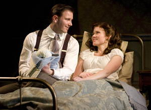 Bill Heck and Maggie Lacey in The Orphans' Home Cycle (© Gregory Costanzo)