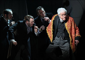 Dick Van Dyke (right) and company in Mary Poppins
