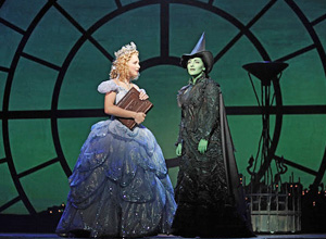 Chandra Lee Schwartz and Donna Vivino in Wicked