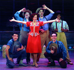 Here she is, boys!Leslie Kritzer and friends in Babes in Arms(Photo: Diane Sobolewski)