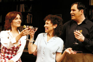 Marilu Henner, Rhea Perlman, and Richard Kind inThe Tale of the Allergist's Wife