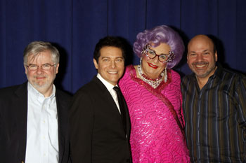 Christopher Durang, Michael Feinstein, Dame Edna Everage,