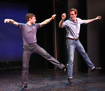 Bobby Steggert and Jeffry Denman perform a scene from Yank!
