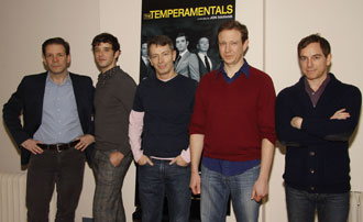 Thomas Jay Ryan, Michael Urie, Arnie Burton,Matthew Schneck, and Samuel Breslin Wright