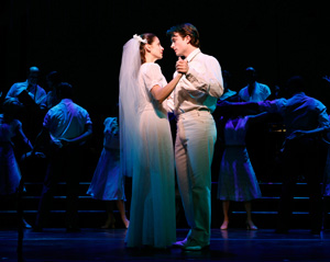 Elena Shaddow and James Snyder in Fanny
