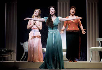 Erin Dilly, Lauren Mitchell, and Toni DiBuonoin The Boys from Syracuse(Photo: Joan Marcus)