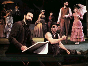 "Mandy Patinkin and company enjoy ""The Day Off"" in theBroadway production of Sunday in the Park with George"