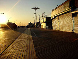 The Coney Island boardwalk, one of the locations whereGorilla Rep is presenting their  Tempest