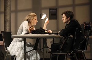 Nina Arianda and Wes Bentley in Venus in Fur