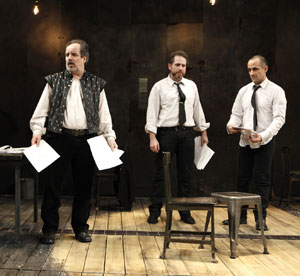 John Pankow, Remy Auberjonois, and David Pittu