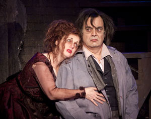 Sherri L. Edelen and Edward Gero in Sweeney Todd
