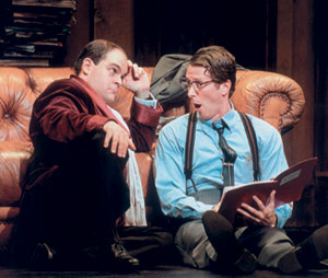 Brad Oscar and Steven Weber in The Producers(Photo: Paul Kolnik)