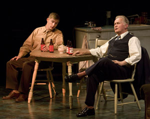 Brian Geraghty and Martin Sheen in The Subject Was Roses (© Craig Schwartz)