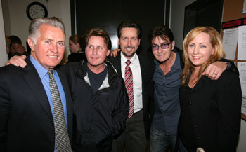 Martin Sheen, Emilio Estevez, Ramon Estevez, Charlie Sheen,