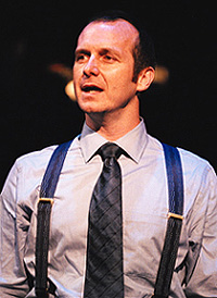 Mason, jarred:Denis O'Hare in Take Me Out(Photo: Mark Douet)