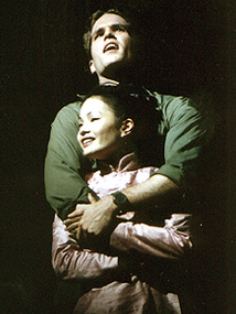 Aaron Ramey and Dina Lynne Morishitaas the war-torn lovers in Miss Saigon(Photo: Jerry Dalia)