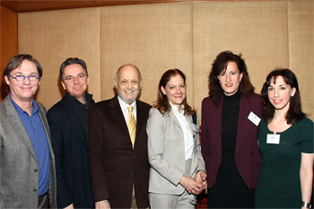 Richard Thomas, James Houghton, Charles Strouse, Hallie Foote, Elizabeth Healy, and Elysa Gardner