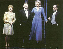 Judith Ivey, Treat Williams, Blythe Danner,and Gregory Harrison in the 2001Broadway revival of Follies