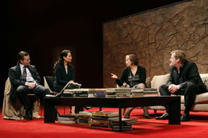 Dylan Baker, Lucy Liu, Janet McTeer, and Jeff Daniels