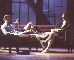 Norton and Catherine Keener in Burn This
