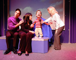 A scene from NEWSical the Musical