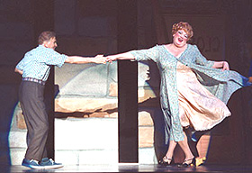 Dick Latessa and Harvey Fierstein in Hairspray