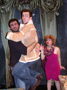 Matthew Pender, William Yoder, and Tina McKissick in When Joey Married Bobby (© Delgar)