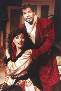Tony Lawson and Judy McLanein Kiss Me, Kate(Photo: John Vecchiolla)