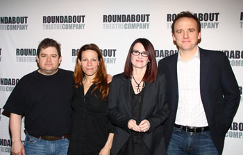 Patton Oswart, Lili Taylor, Megan Mullally, and David Wilson Barnes