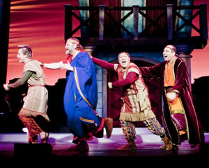Larry Raben, Ron Orbach, Lee Wilkof, and Michael Kostroff