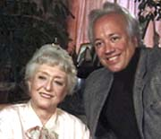 Celeste Holm poses with Rick McKay
