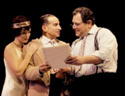 Jolson and company:  Stephen Mo Hanan (center)with Nancy Anderson and Robert Ari(Photo: Carol Roegg)