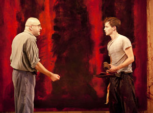 Alfred Molina and Eddie Redmayne in Red