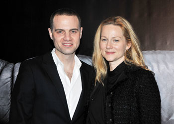 Jordan Roth and Laura Linney