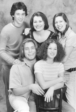 In the top row:  Young playwrights Ben Gottlieb,Caroline V. McGraw, and Lauren GundersonBottom row:  Daniel St. Germain and Molly Lamberg