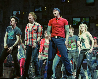Michael Esper, John Gallagher Jr, and Stark Sandsin American Idiot