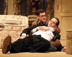 Justin Bartha and Tony Shalhoub in Lend Me a Tenor