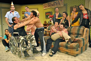 A scene from Happy In The Poorhouse (© Larry Cobra)