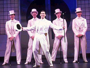 David Elder and the boys of 42nd Street(Photo: Joan Marcus)