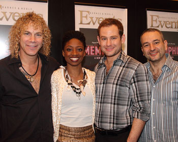 David Bryan, Montego Glover, Chad Kimball, and Joe DiPietro