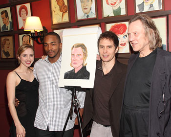 Zoe Kazan, Anthony Mackie, Sam Rockwell, and Christopher Walken